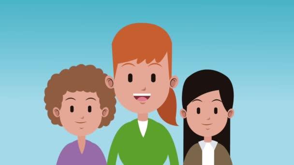 Young womens cartoon HD animation