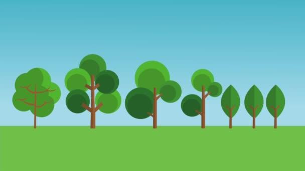 Nagy család, a park Hd animáció