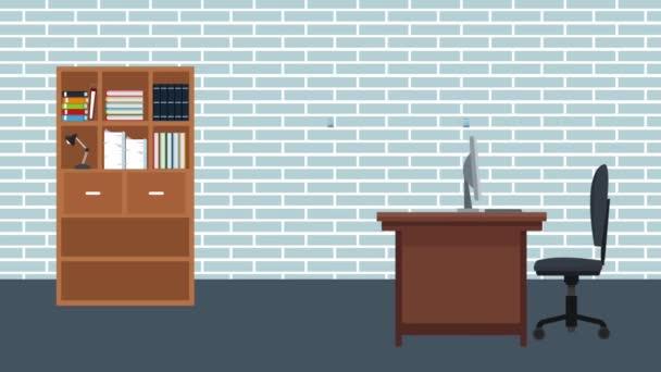 Úřad pracoviště scenérie Hd animaci