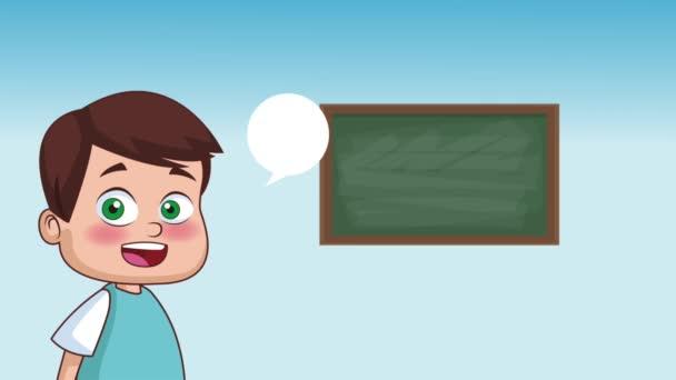 A gyerekek és az iskola Hd animáció