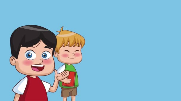 Kids and school HD animation