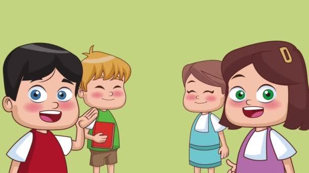 Děti a škola animace Hd