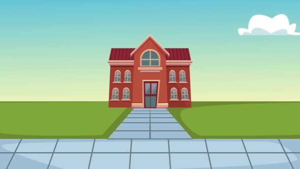 School and kids HD animation