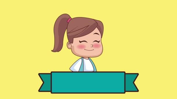 Cute Girl lcartoon Hd animaci