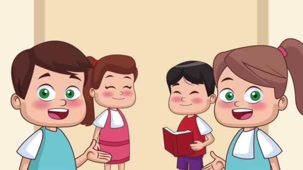 Škola a děti Hd animace