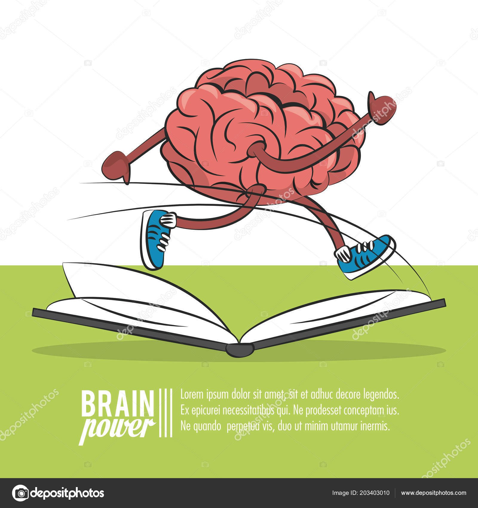 Brain power poster — Stock Vector © jemastock #203403010