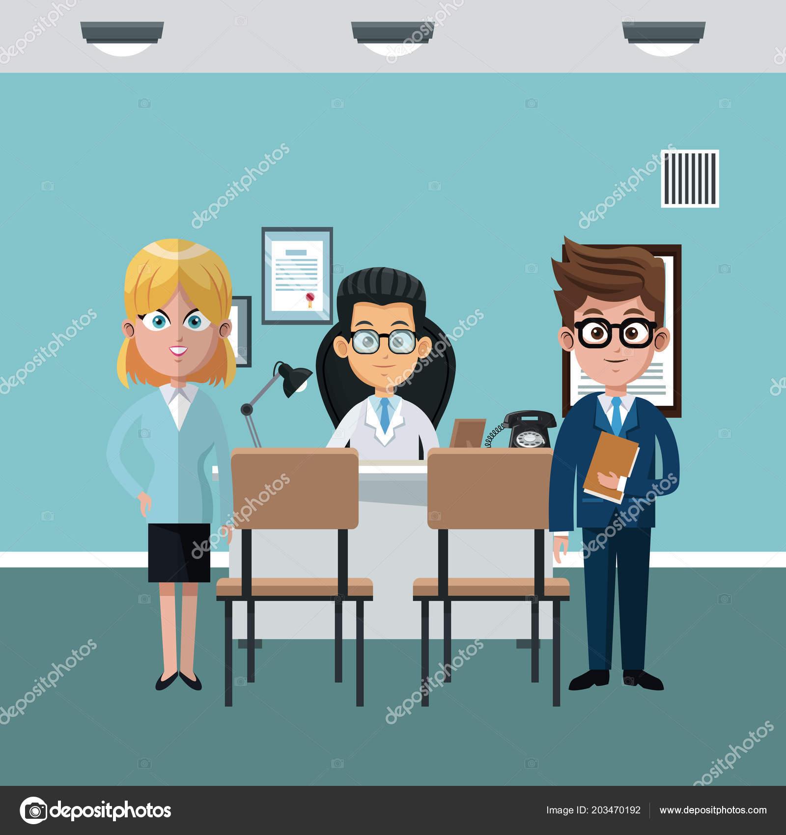 Arzte Buro Cartoon Stockvektor C Jemastock 203470192