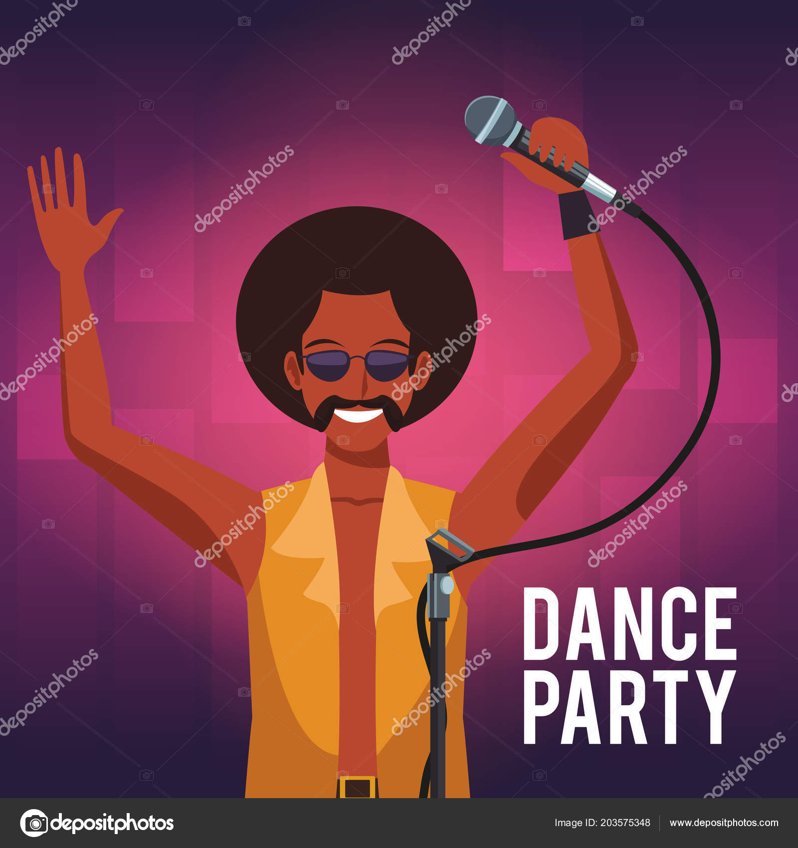 Dance party invitation card vetores de stock jemastock 203575348 dance party invitation card vetores de stock stopboris Gallery