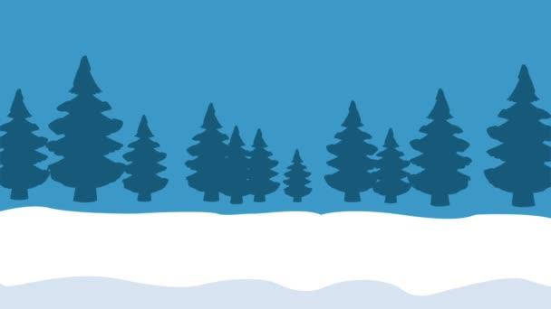 Vánoční přání a roztomilá zvířata Hd animaci