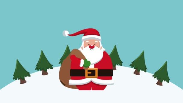 Mikulás karácsonyi kártya Hd animáció