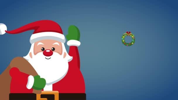 Santa claus christmas card HD animation
