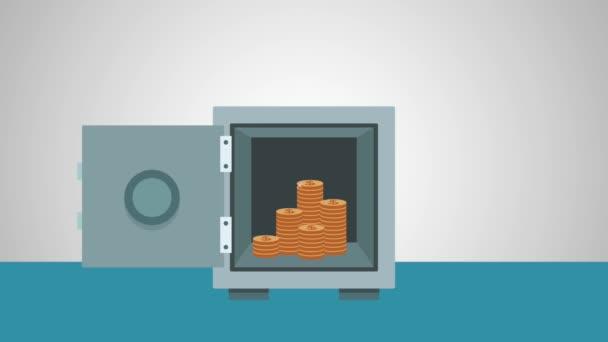 StrongBox a peníze Hd animace