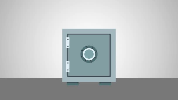 Money and strongbox HD animation