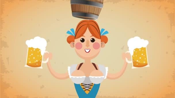 Oktoberfest Feier hd animation