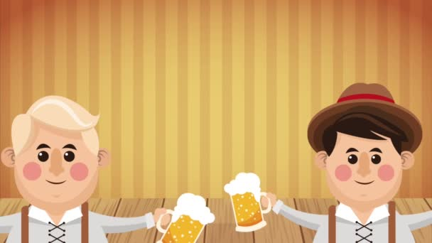 Oktoberfest Feier hd animation