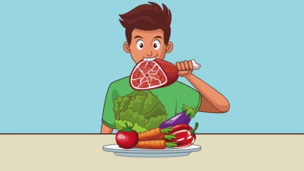 Mensch und Essen hd animation