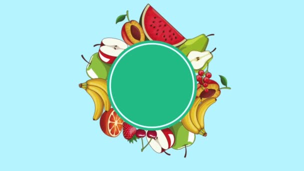 Natural fruits frame HD animation — Stock Video © jemastock #205255542