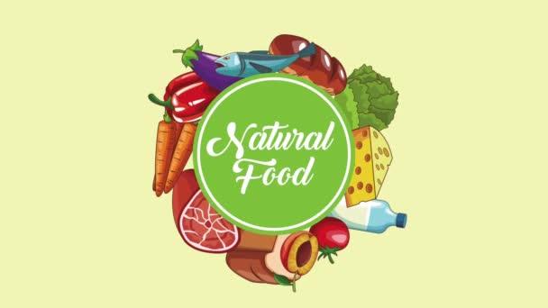 Koncept přirozené potravy Hd animaci