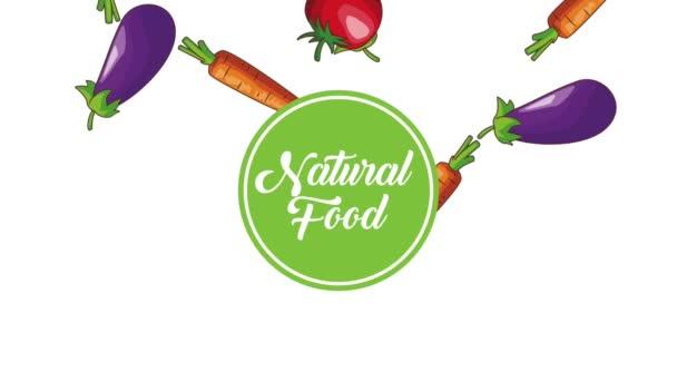 Přírodní zelenina potraviny Hd animaci