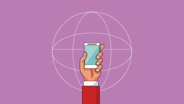 Smartphone und Menschen hd Animation
