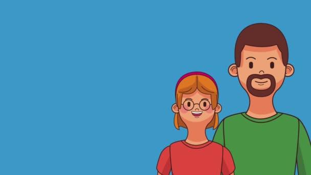 Krásné rodinné kreslené Hd animace