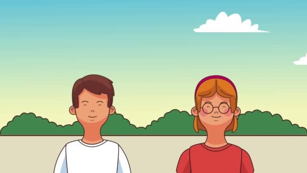 schöne Familie Cartoons hd animation