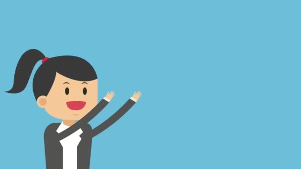 geschäftsfrau zeichentrick hd animation