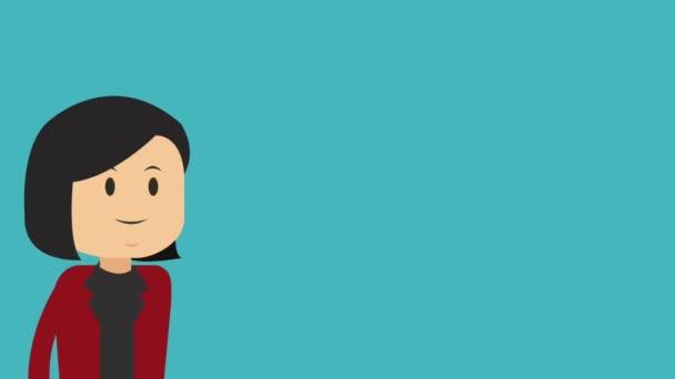 Executive business cartoon HD animation