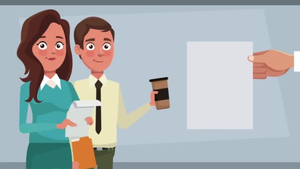 Business team cartoons HD animation