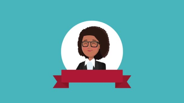 Executive businesswoman cartoon HD animation