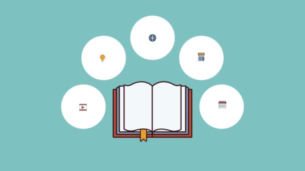 Electronic book online HD animation