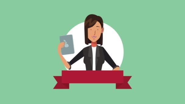 Executive businesswoman cartoons HD animation