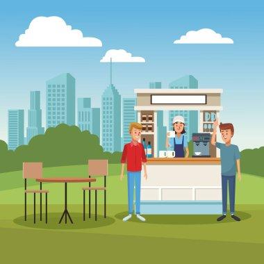 Coffee stand ar park