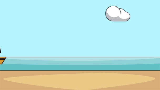Sailboat in the sea HD animation