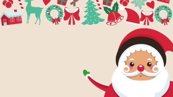 Cute santa claus cartoon HD animation