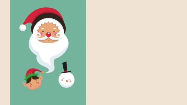 Santa and elf christmas cartoons HD animation