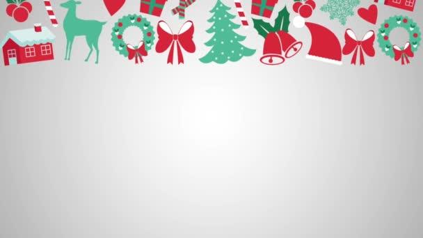 Frohe Weihnachten Botschaft hd animation