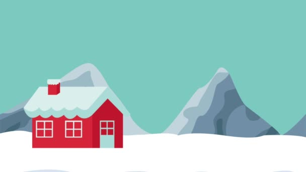House and snowman HD animation