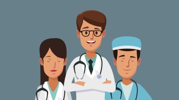 Lékařský tým kreslené animace Hd