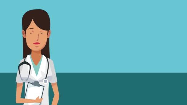 Woman doctor cartoon HD animation