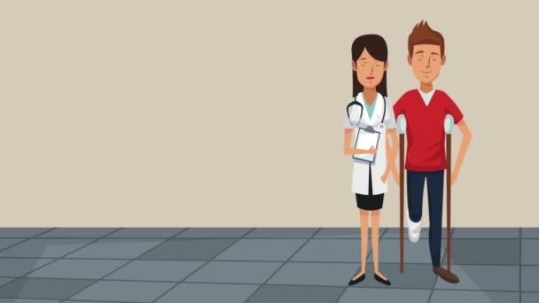 Lékař zdravotní kreslené Hd animace