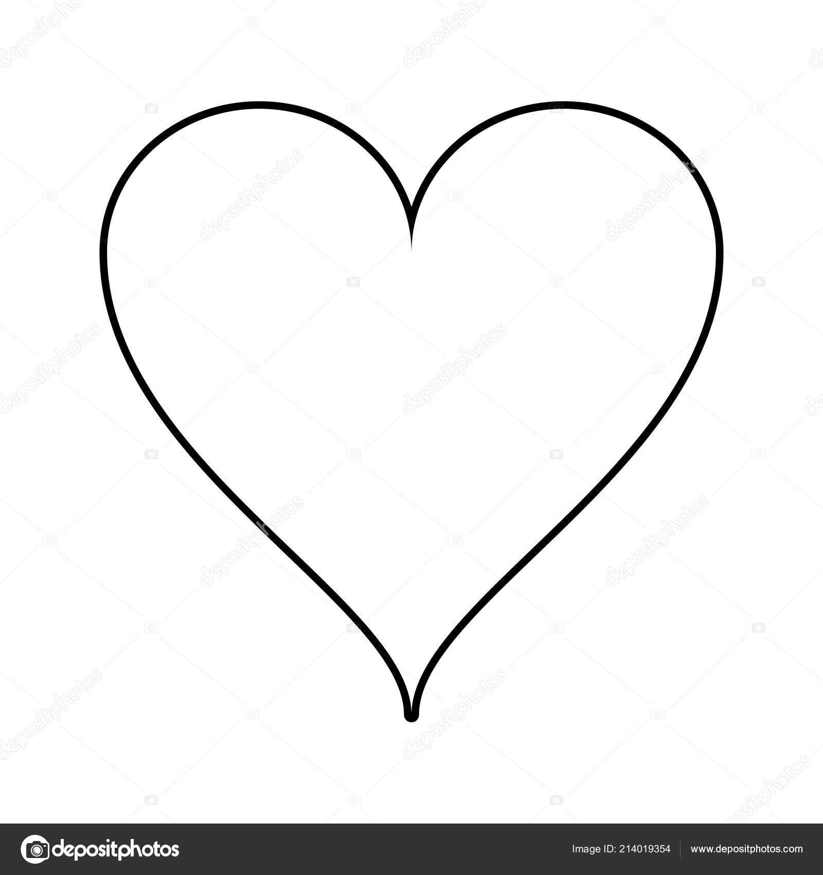 Corazón Encantador Aislado En Blanco Y Negro Archivo Imágenes