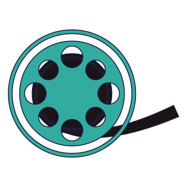 cinema rolling reel isolated vector illustration graphic design