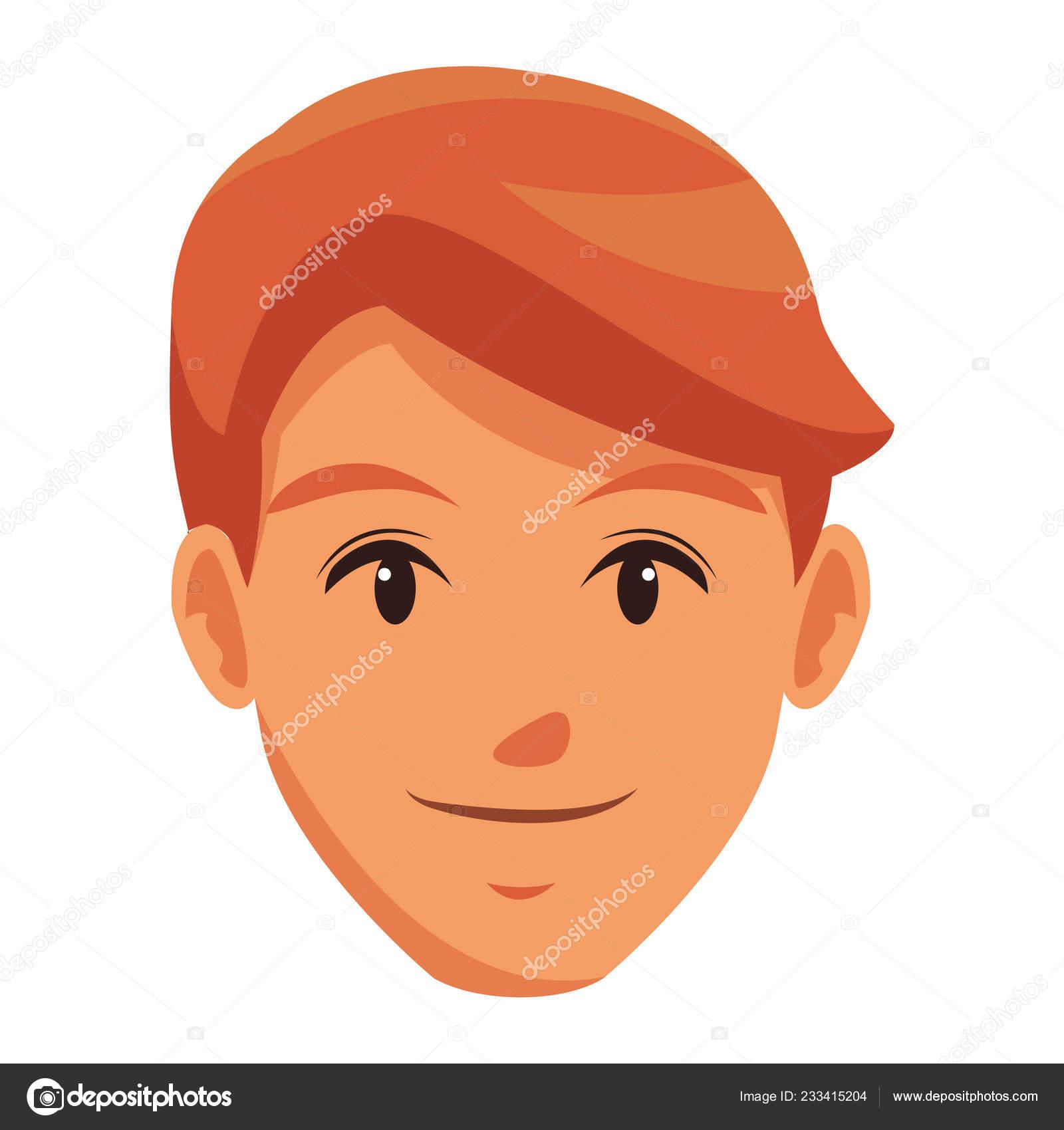 Cute Man Face Cartoon Stock Vector C Jemastock 233415204