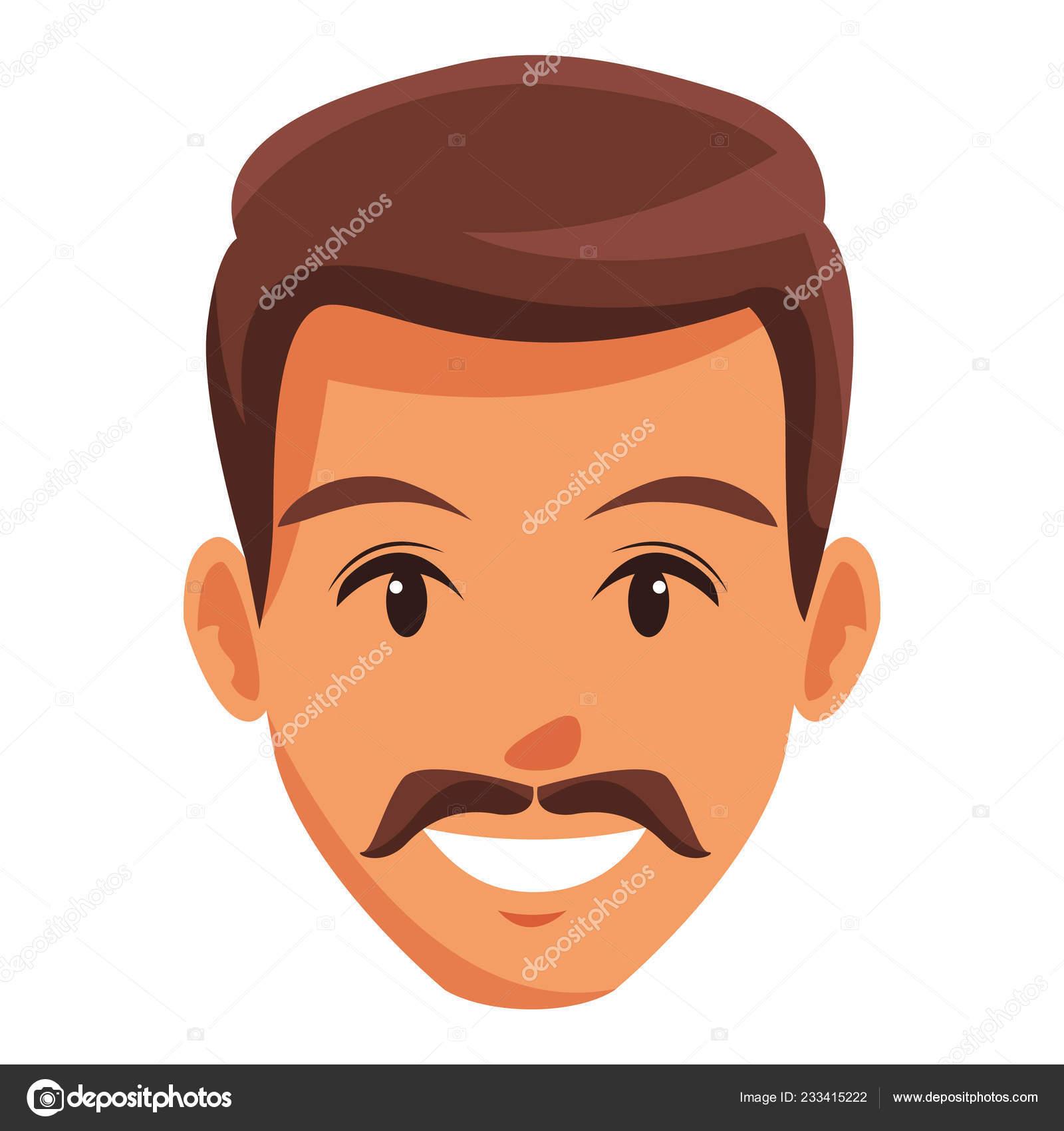 Cute Man Face Cartoon Stock Vector C Jemastock 233415222