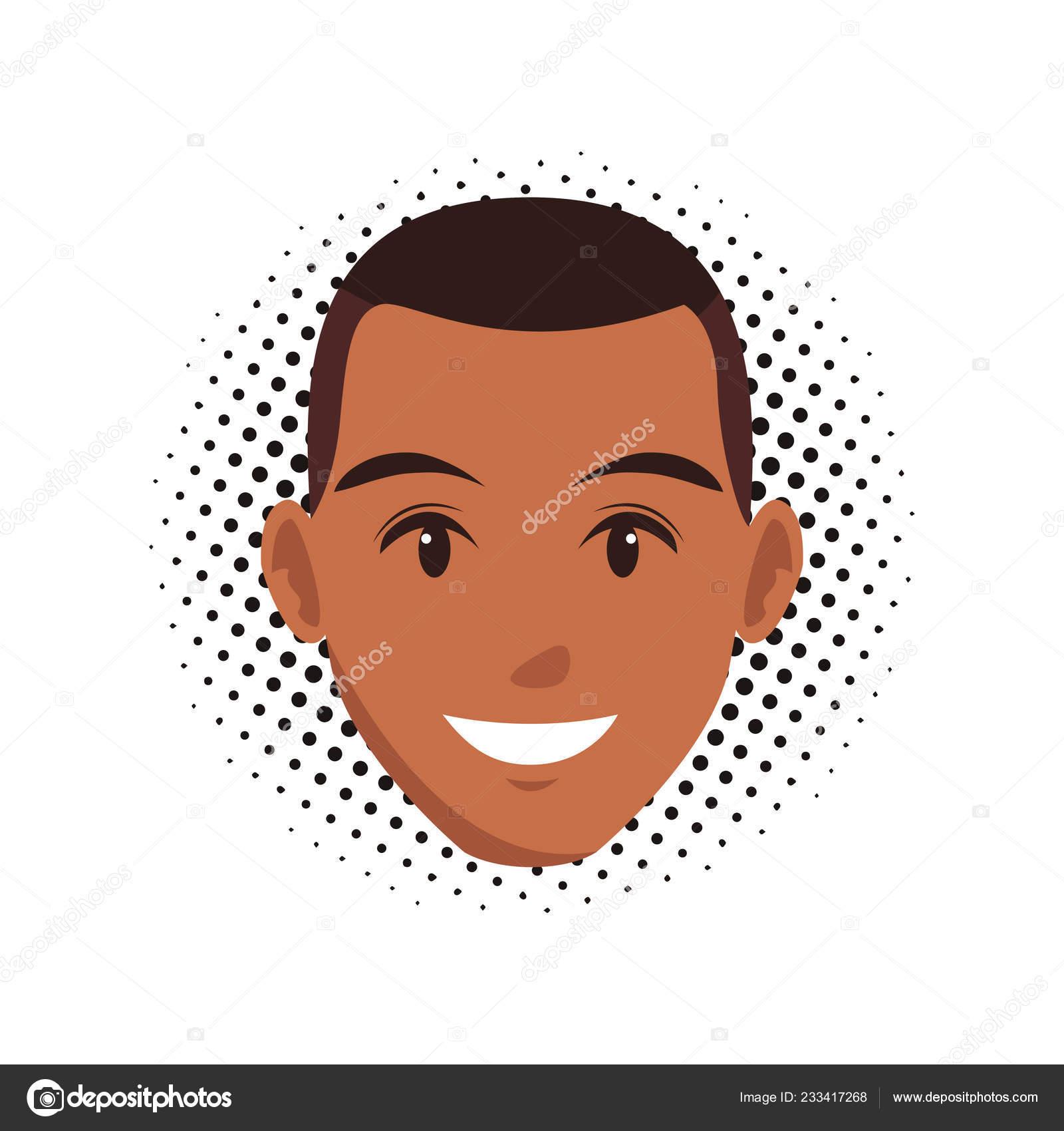 Cute Man Face Cartoon Stock Vector C Jemastock 233417268