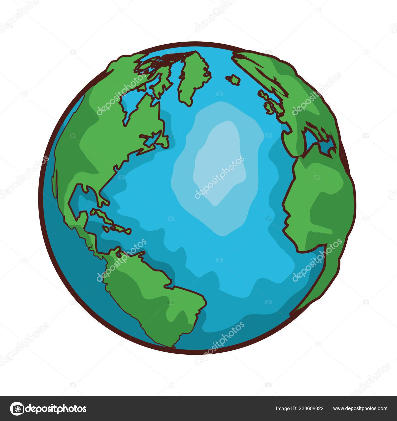 World map globe cartoon ⬇ Vector Image by © jemastock | Vector Stock  233608822