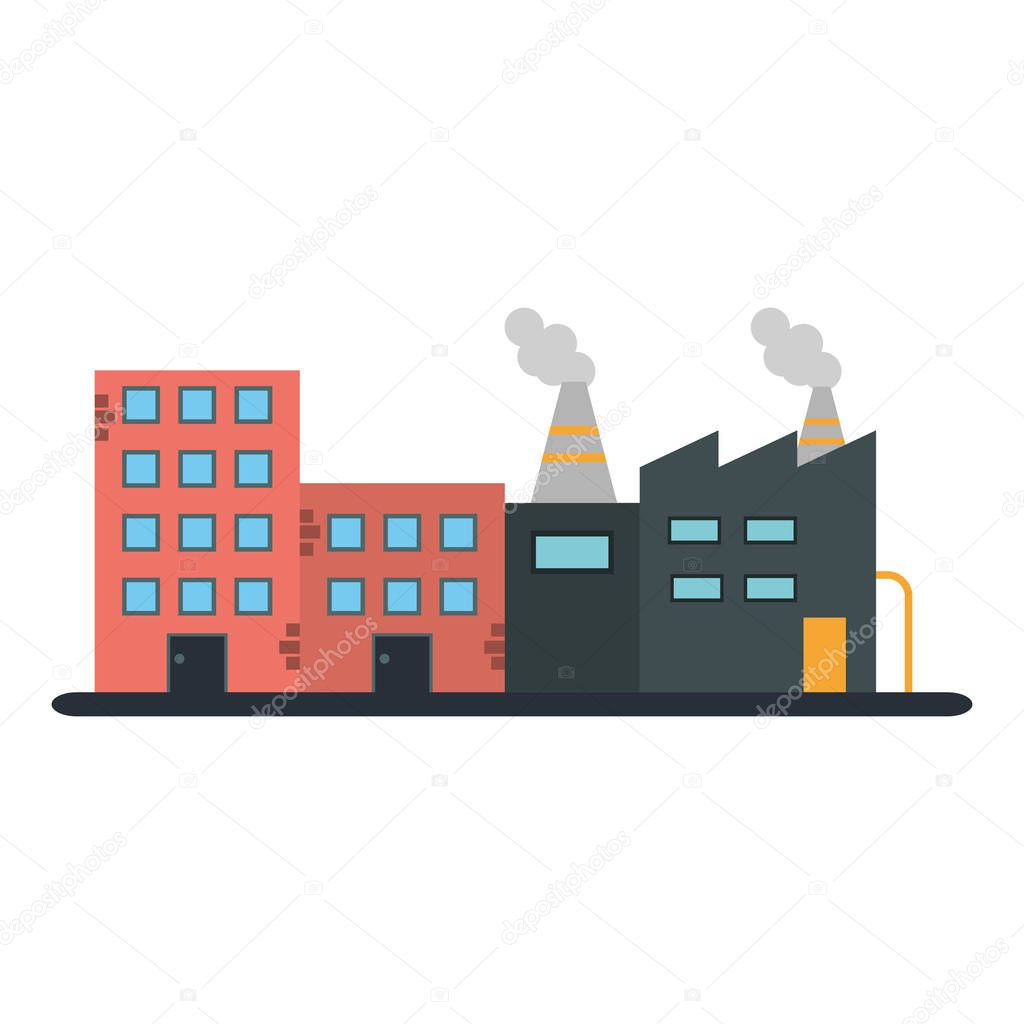 buildings and factory