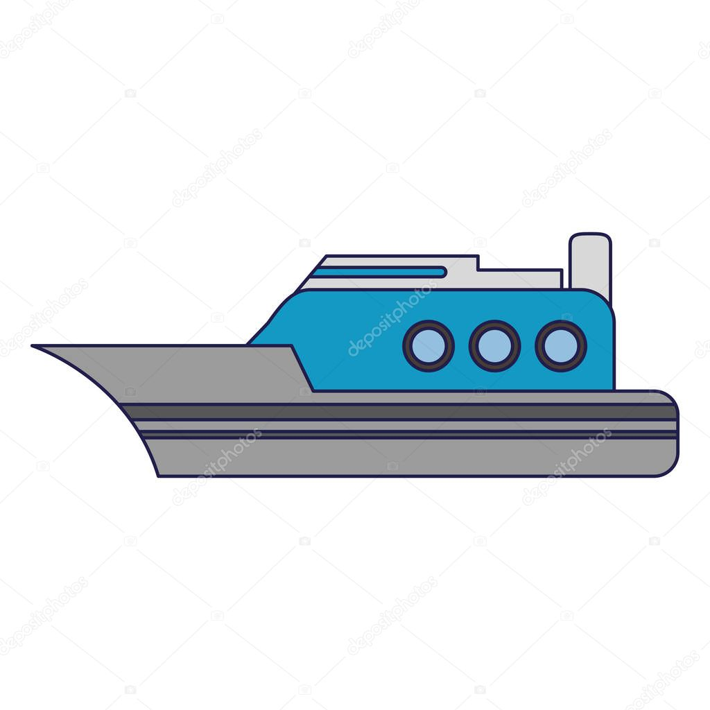 freighter ship boat blue lines