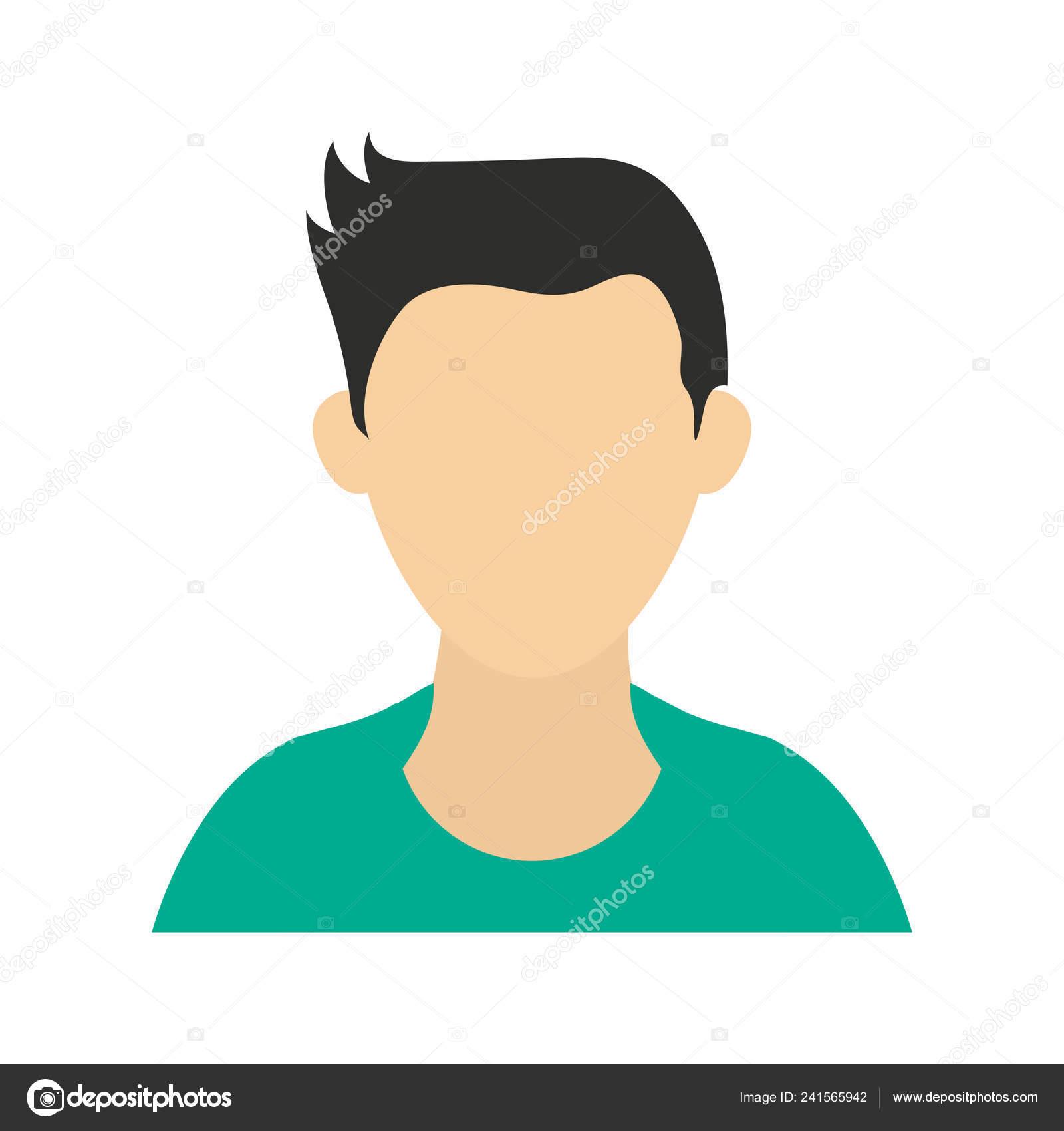 Profil De Mâles Sans Visage Avatar Image Vectorielle